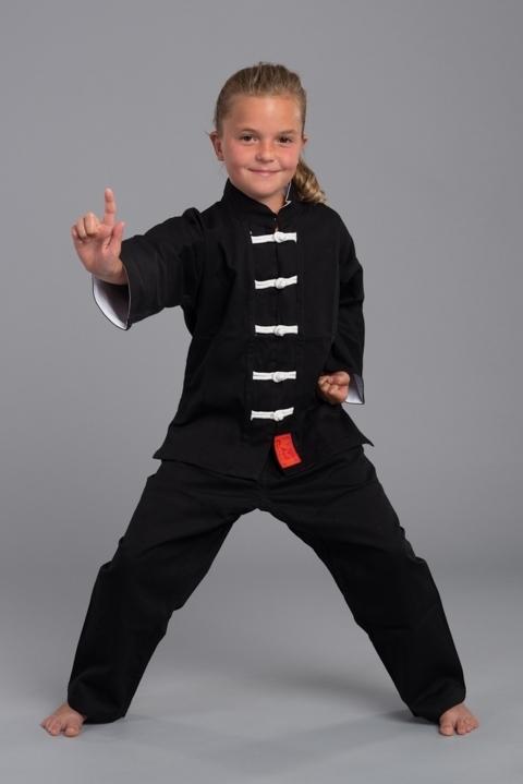 Kung-Fu Anzug Shaolin weiß